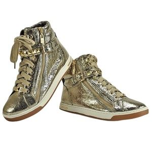 Michael Kors GLAM Studded High Top Sneakers 8